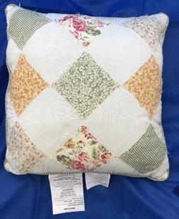 "Patchwork Country Square Decorative Throw Pillow 16"" x 16"""