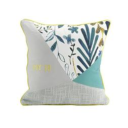 "Hallmark Home Patchwork Pillow 14"" Square, ""Be You"""