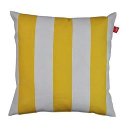 PacifiCasual Patio Indoor/Outdoor Stripe Yellow and White Th