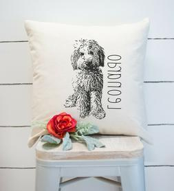 Personalized Throw Pillow. Doodle Dog, Goldendoodle Labradoo
