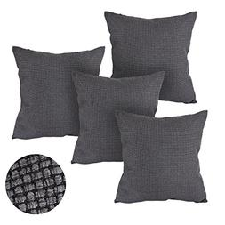 Deconovo Pillow Case Covers With Zipper Grey 18x18 Pillow Co