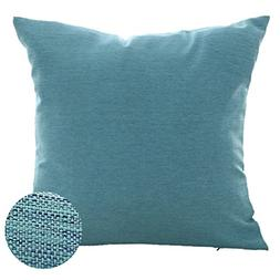 Deconovo Pillow Cover Faux Linen Pillow Sham Soft Cushion Co