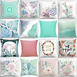 pillow cover floral cactus home decor decorative