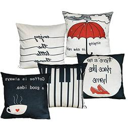 sykting Pillow Covers for Throw Pillows Set of 5 Home Sofa D