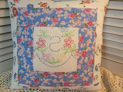 PILLOW MADE FROM VINTAGE LINENS