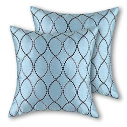 CaliTime Pack of 2 Cushion Covers Throw Pillow Cases Shells