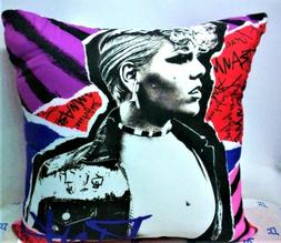 PINK Artist Singer Collectible Back to Back Print Throw Pill