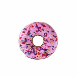 "HYSEAS Pink Donut Shaped 14"" Photoreal Print Throw Pillow"