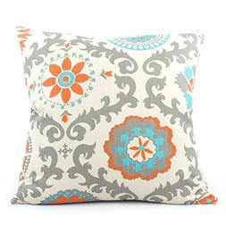 "Chloe and Olive Pinwheel Double-sided 20"" Square Designer To"
