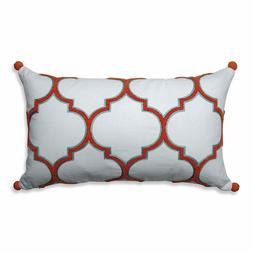 Pillow Perfect Piper Citrus-White Rectangular Throw Pillow