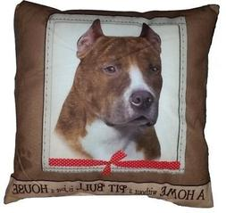 """PIT BULL 16"""" by 16"""" Ultra Soft Throw Pillow"""