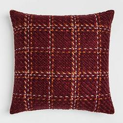 Threshold Plaid Oversize Square Throw Pillow Berry