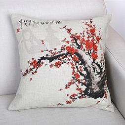 Elliot_yew Plant Decorative Master Painting Cotton Linen Sty