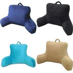 Plush Backrest Pillow Cushion Back Support Reading Bedrest A