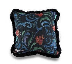 Polyester/Cotton Throw Pillows Jim Shore Midnight Bloom Deco