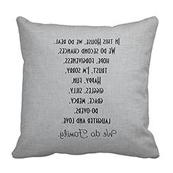 Popular Family Quote on Gray Throw Pillow Inspirational Quot