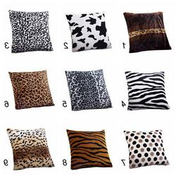 Potable Animal Zebra Leopard Print Pillow Sofa Bed Throw Cus