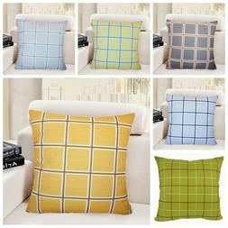 Premium Plaid Throw PILLOW COVER Sofa Bed Decorative Cushion