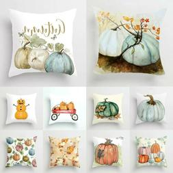 Pumpkin Halloween Pillows Cover Fall Decor Pillow Case Sofa