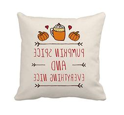 4TH Emotion Pumpkin Spice Fall Thanksgiving Home Decor Throw