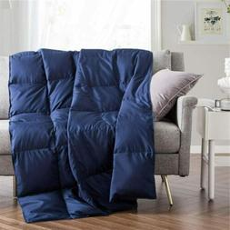 Puredown Quilt Ultra Lightweight Down Blanket Throw Home Off