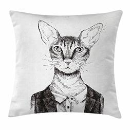 Quirky Decor Throw Pillow Cushion Cover by Ambesonne, Hipste