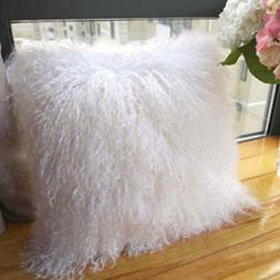 unite down 100% Real Mongolian Lamb Fur Cushion Cover/Pillow