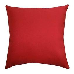 Red Decorative Pillow, Red Solid Throw Pillow, Lipstick Red