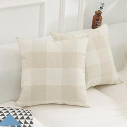 HOME BRILLIANT Retro Checkers Plaids Farmhouse Tartan Soft C