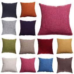 Retro Colorful Throw Waist Pillow Cases Sofa Decor Outdoor S