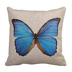 Loool Retro Vintage Butterfly Home Decorative Throw Pillow C