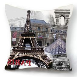 OJIA Retro Vintage Paris Eiffel Tower Louvre Museum Home 18
