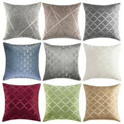 Reversible Throw Pillow Covers Geometric Jacquard Sofa Bed C