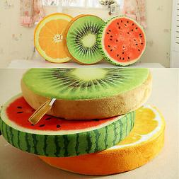 Round Fruits Throw Logs Slice Pillow Home Car Cushion Decor