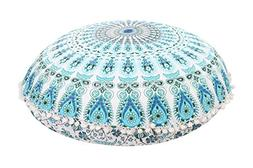 """Trade Star Exports Large 32"""" Round Pillow Cover, Decorative"""