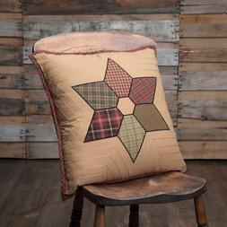 VHC Brands Rustic & Lodge Primitive Throws-Tea Star Tan Patc