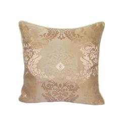 "Satin Damask Pattern 18""x18"" Pink Decorative/Throw Pillow Ca"