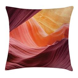 Scenery Decor Throw Pillow Cushion Cover by Ambesonne, Lower