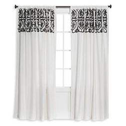 Threshold™ Scroll Embroidery Curtain Panel Sour Cream Radi