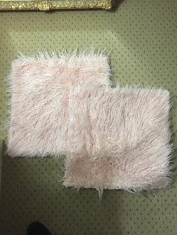 "HOME BRILLIANT Set of 2 Decorative Faux Fur 18""x18 Sham Larg"