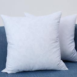 Set of 2, Decorative Throw Pillow Inserts, Filled with Down