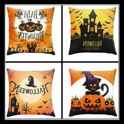 SET OF 4 45CM HALLOWEEN SOFA COUCH THROW PILLOW COVERS