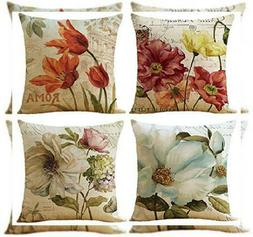 WOMHOPE Set of 4 Colorful Geometric Throw Pillow Covers Rome