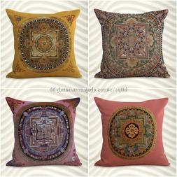 set of 4 decorative throw pillow case for couch mandala boho