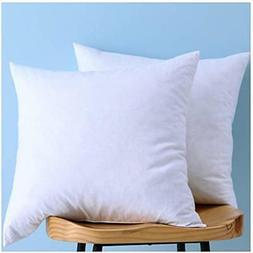 Set Of Pillow Inserts 2, Down And Feather Throw Insert, Deco