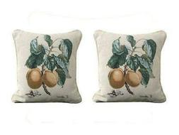 DaDa Bedding Set of Two Apricot Elegant Throw Pillow Covers