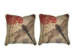 DaDa Bedding Set of Two Dragonfly Dreams Throw Pillow Covers