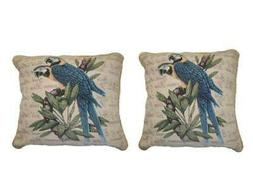 DaDa Bedding Set of Two Parrots in Love Throw Pillow Covers
