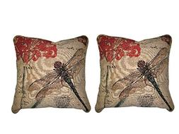 DaDa Bedding Set of Two Dragonfly Dreams Insect Bug Elegant
