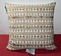 "Threshold- Shibori Throw Toss Pillow - Tan 18"" X 18"""